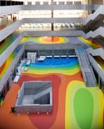 Bodenfarbkonzept für Nationalbibliothek in Prag