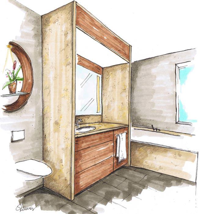 kleines schlauchbad ganz gro bad modernisieren sanieren. Black Bedroom Furniture Sets. Home Design Ideas