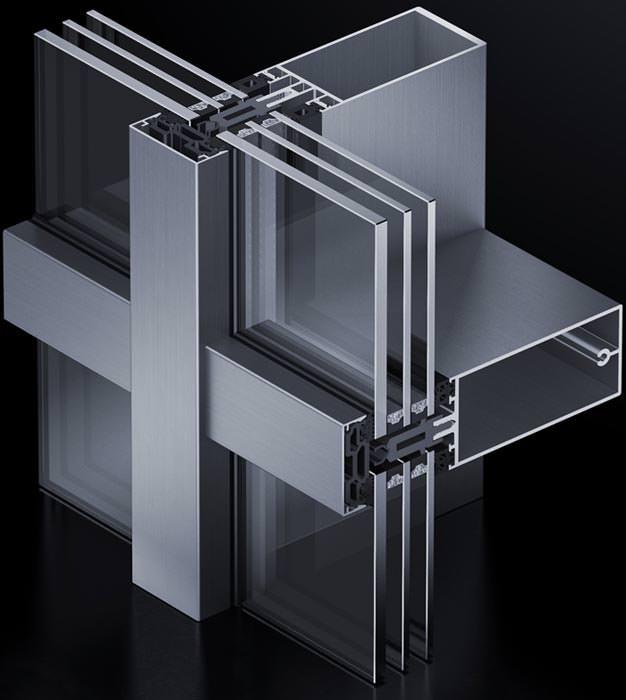 pfosten riegel system aus aluminium vom passivhaus. Black Bedroom Furniture Sets. Home Design Ideas
