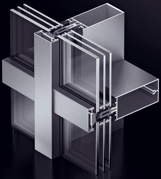 pfosten riegel system aus aluminium vom passivhaus institut zertifiziert. Black Bedroom Furniture Sets. Home Design Ideas