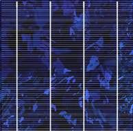 Solarzelle mit 4 Busschienen