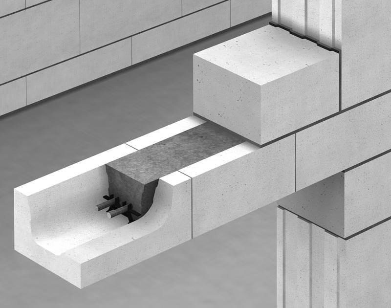 flachst rze mit bewehrten zuggurten in kalksand. Black Bedroom Furniture Sets. Home Design Ideas