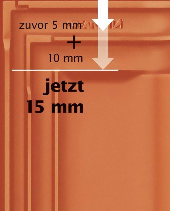 flachdachziegel mz3 von creaton mit dreifachem. Black Bedroom Furniture Sets. Home Design Ideas