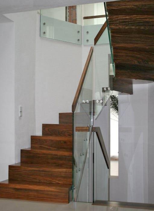 transparent klar schlicht neues glas gel nder von baveg. Black Bedroom Furniture Sets. Home Design Ideas