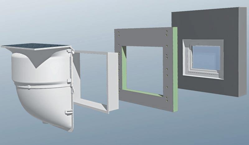 komplett mit lichtschacht kellerfenster und. Black Bedroom Furniture Sets. Home Design Ideas
