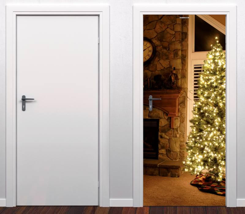 winter weihnachts folien f r t r und tor foto folien f r fotot r fototor. Black Bedroom Furniture Sets. Home Design Ideas
