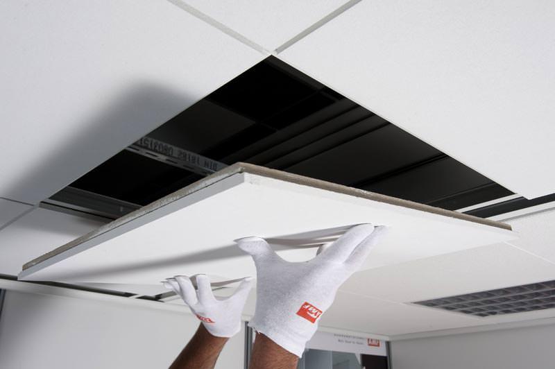 Amf Decken Eigenschaften : Abgehängte akustikdecke mit verdeckter kantenausführung von amf