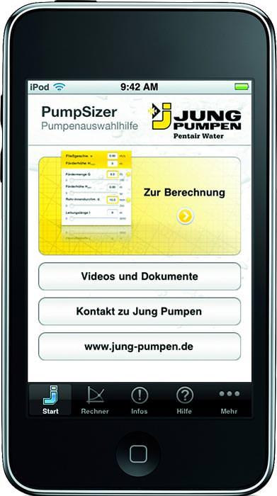 rechenschieber 2 0 auslegungshilfe von jung pumpen f r iphone und ipod touch. Black Bedroom Furniture Sets. Home Design Ideas