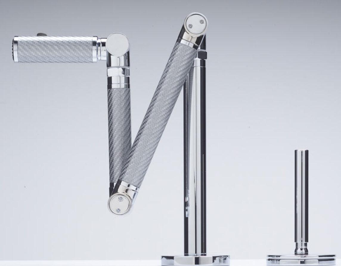 Kohler Badarmaturen mehrgelenk armatur aus kohlefaser für die küchenspüle