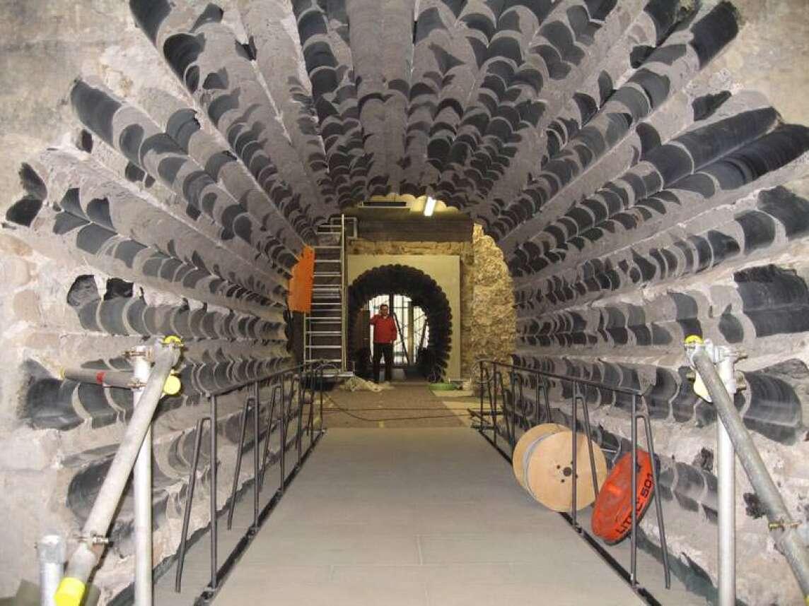 Tunnel durch das Fundament des Kölner Doms