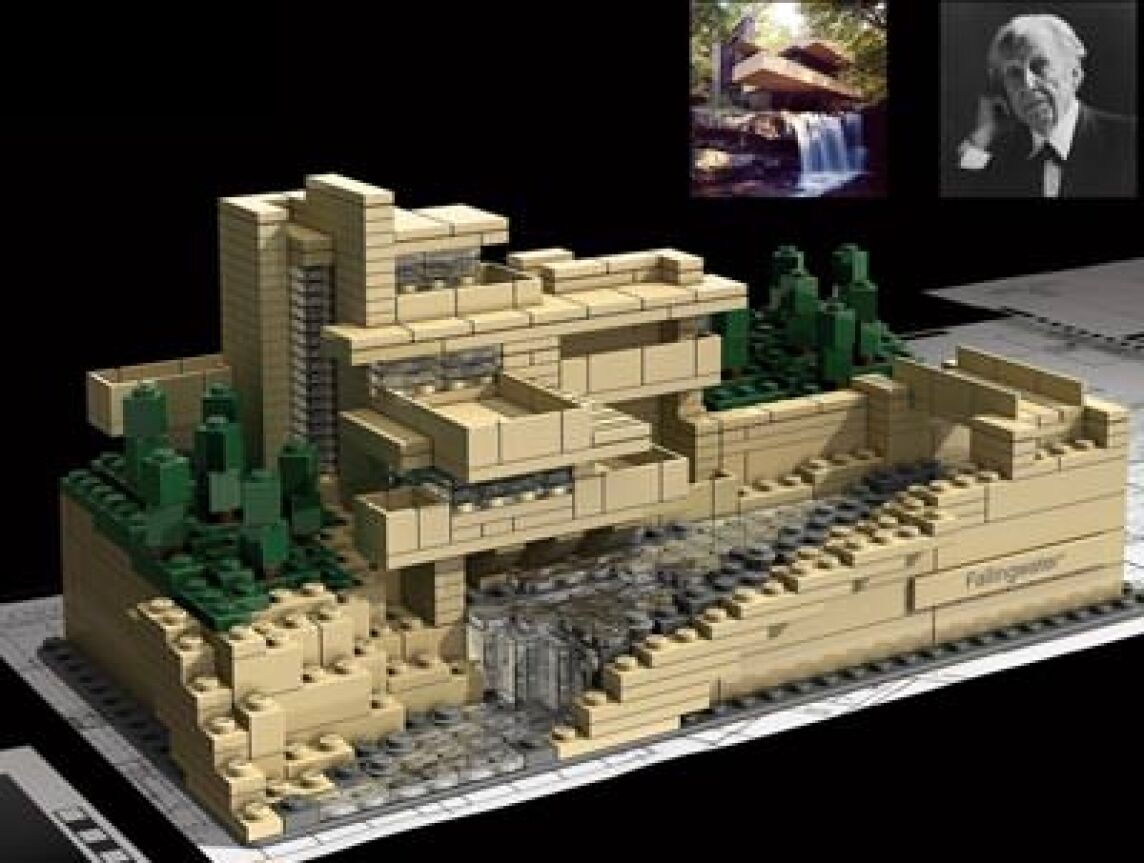 bauwerke von frank lloyd wright als lego architecture modelle villa fallingwater guggenheim. Black Bedroom Furniture Sets. Home Design Ideas