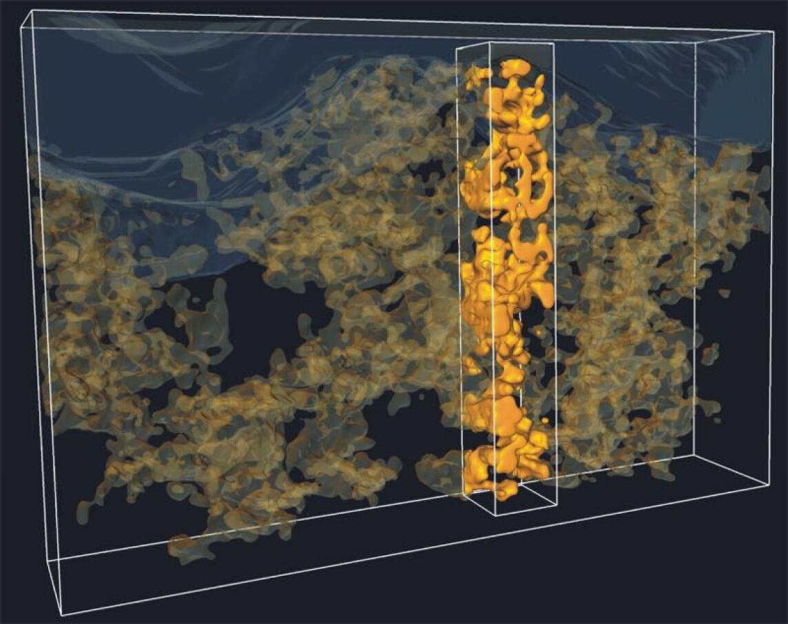 Elektronentomographisches Bild einer Polymer-Metalloxid-Solarzelle