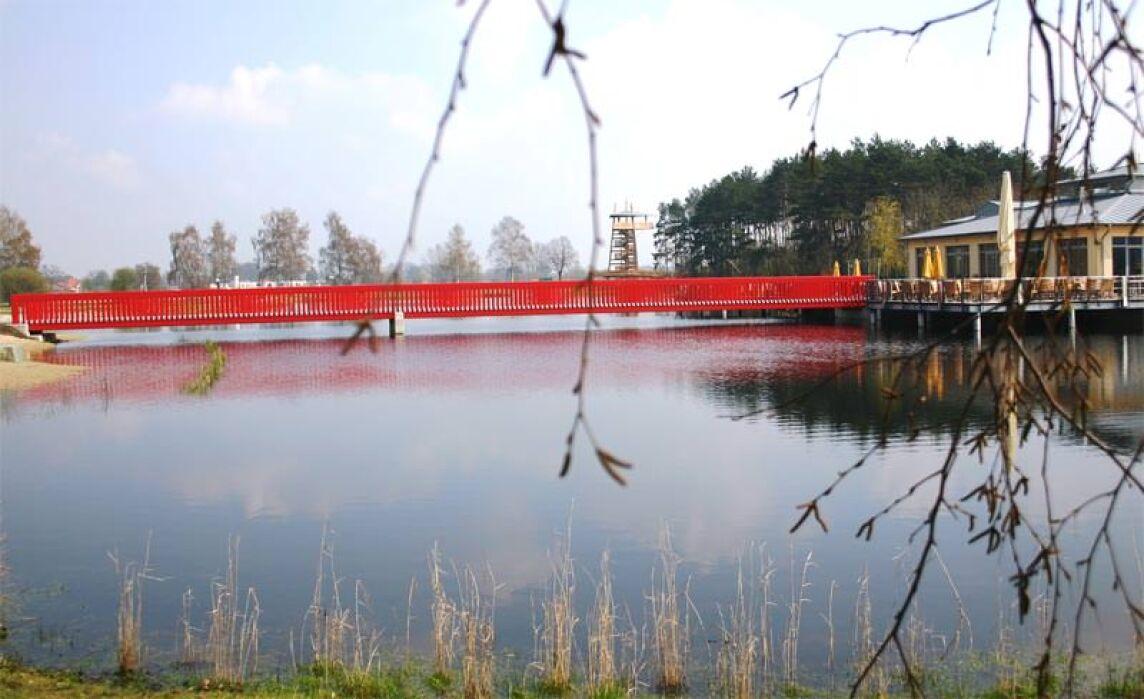 Brücke der Landesgartenschau in Rietberg, Prof. Eberhard Fiebig, Kassel