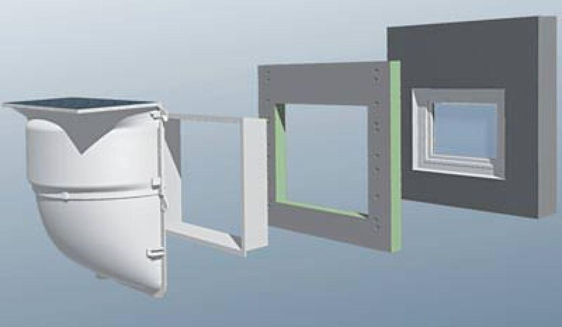 Komplett mit lichtschacht kellerfenster und montaged mmplatte meafix mealuxit zargenfenster - Fenster mit lichtschacht ...