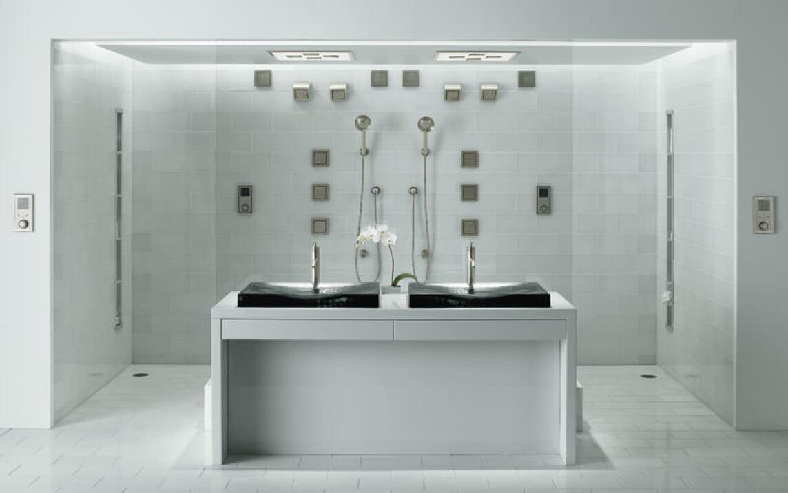 duschen mit wasser mp3 licht und dampf kohler dtv ii duschbad dampfbad mit chromatherapie. Black Bedroom Furniture Sets. Home Design Ideas