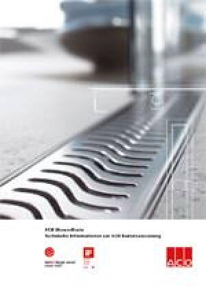 ACO ShowerDrain- Technische Informationen zur ACO Badentwässerung
