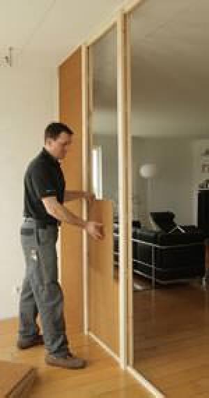 schallschutz trennwandsystem aus holz und holzfasern. Black Bedroom Furniture Sets. Home Design Ideas