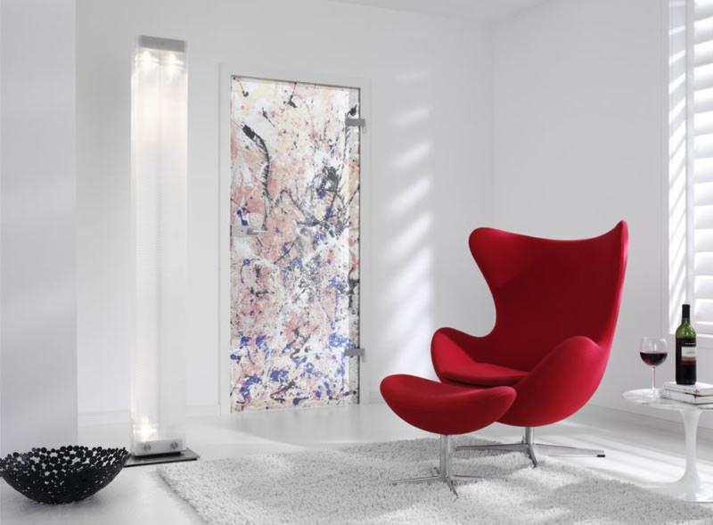 Design-Glastür von Enno Folkerts