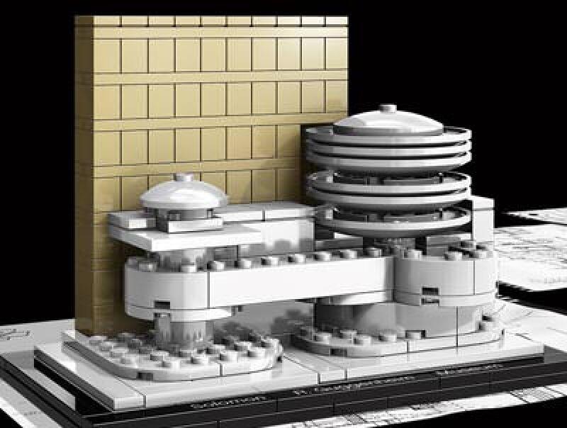 Guggenheim Museumvon Frank Lloyd Wright mit LEGO Architecture Steinen © Frank Lloyd Wright Foundation