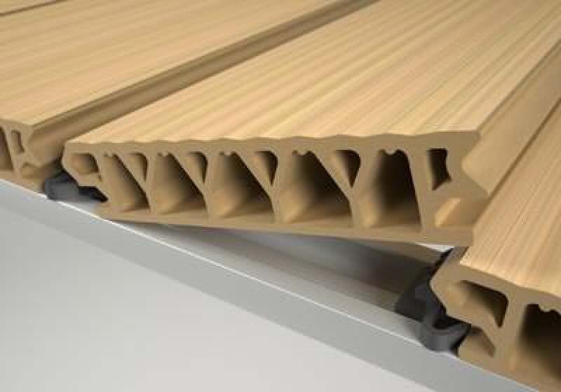 ... Nut und Feder  O-Terrace - Terrassendielen aus Wood-Polymer-Composite