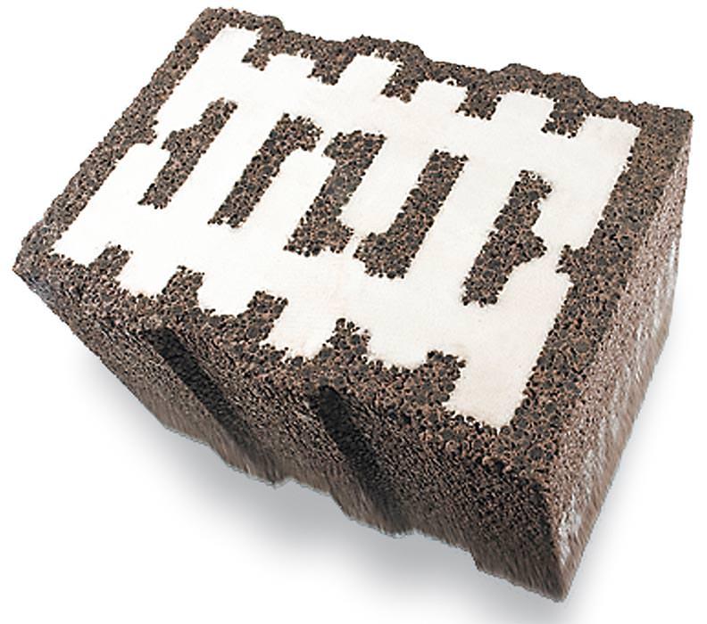 hohlblockstein mit elastopor h f llung. Black Bedroom Furniture Sets. Home Design Ideas