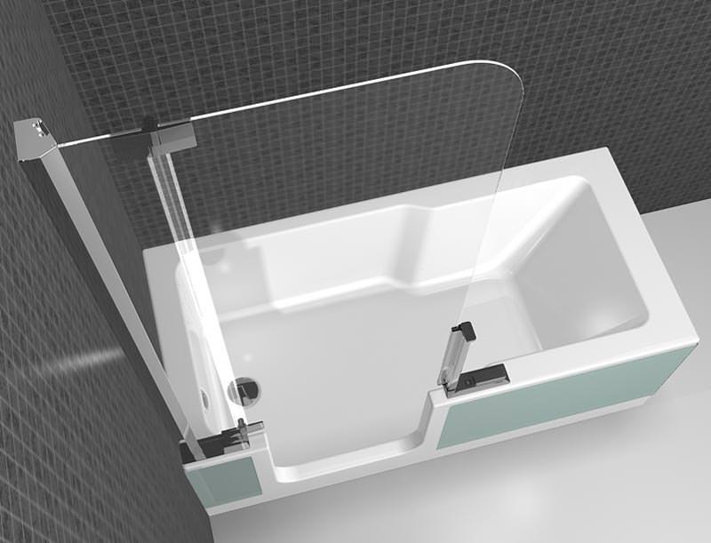 zweite artweger twinline mit dem platzbedarf einer badewanne. Black Bedroom Furniture Sets. Home Design Ideas