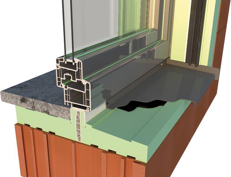 Hochd mmendes einbausystem integriert alle fensteranschl sse - Fensterbank einbauen ...