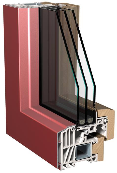 Kunststofffenster mit alu und massiver holzverblendung for Alu kunststofffenster