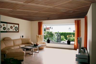 Decken modernisierung entspannt mit spannung spanndecke - Moderne holzdecken beispiele ...