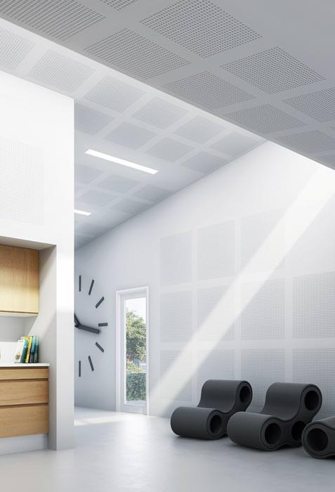 rigiton akustikplatte mit hexagonalem lochdesign big sixto 63 lochplatten f r akustikdecken. Black Bedroom Furniture Sets. Home Design Ideas