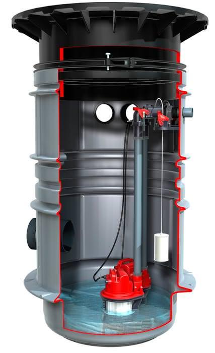 neu von kessel pumpstation aus kunststoff im. Black Bedroom Furniture Sets. Home Design Ideas