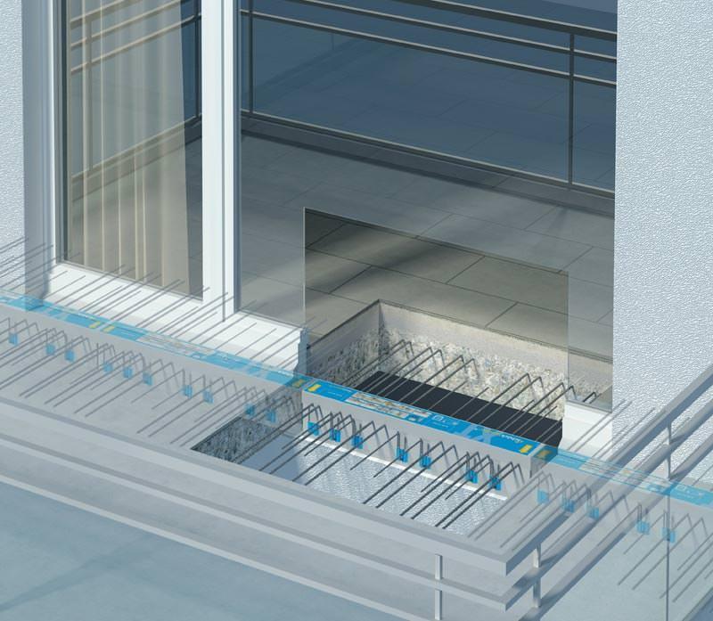 balkongel nder auf ged mmten balkon. Black Bedroom Furniture Sets. Home Design Ideas