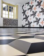 Intarsienboden im Escher-Museum