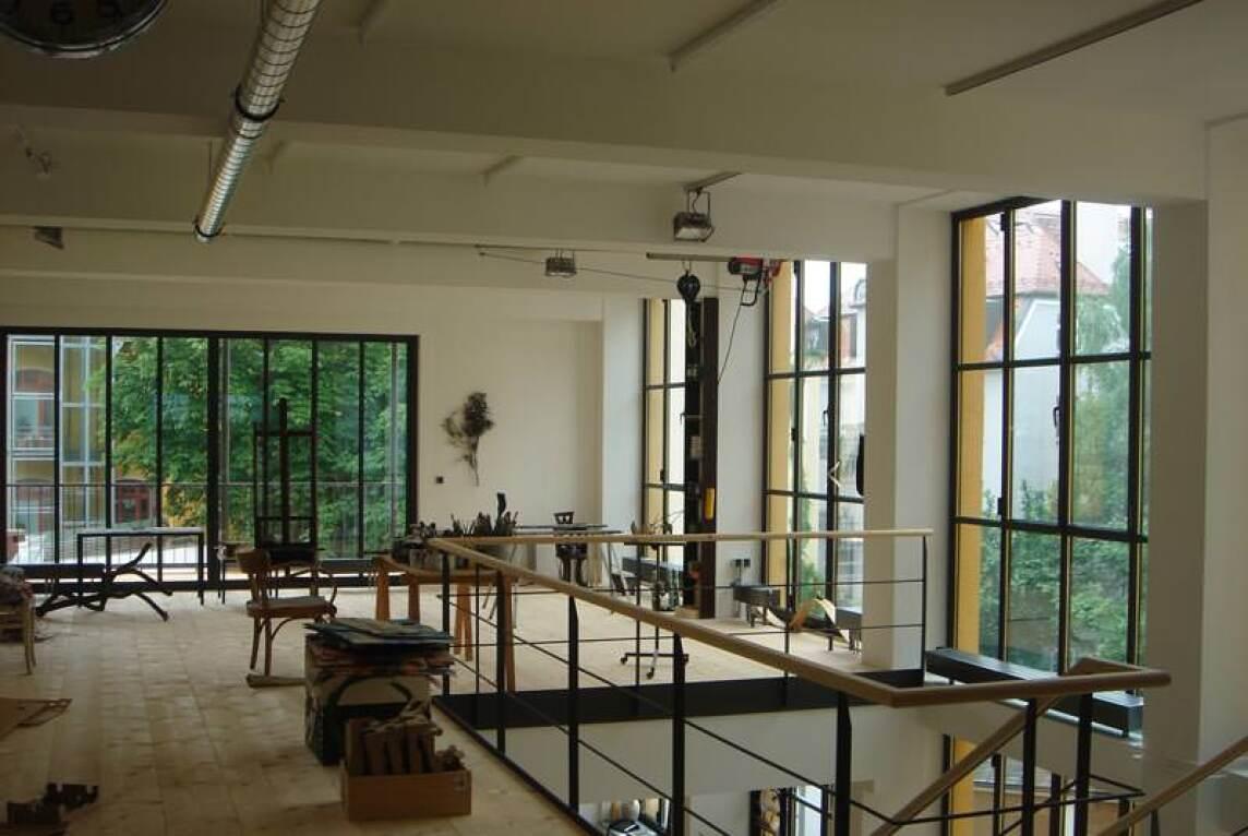 Loft Fenster kaffeelofts atelierverglasung mit sehr schlanken stahlprofilen