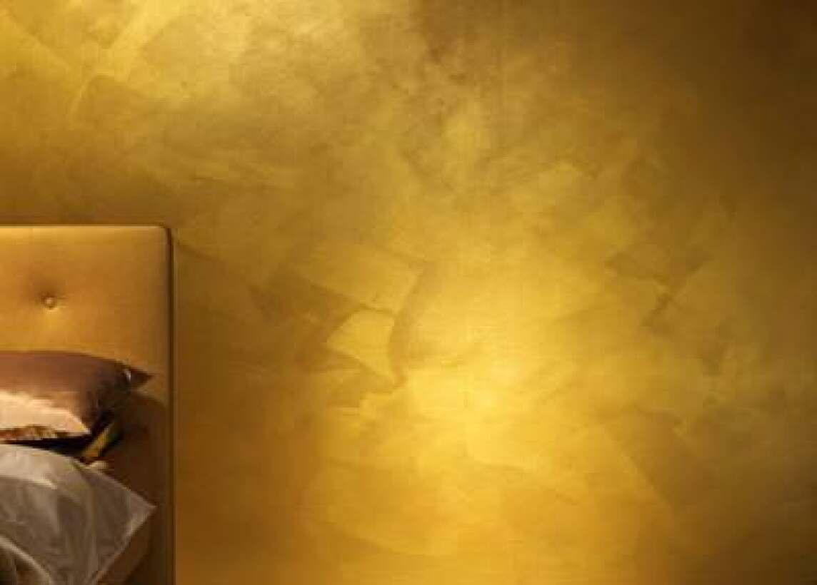 vergolden oder capagold goldfarbe goldener anstrich in der innenarchitektur. Black Bedroom Furniture Sets. Home Design Ideas
