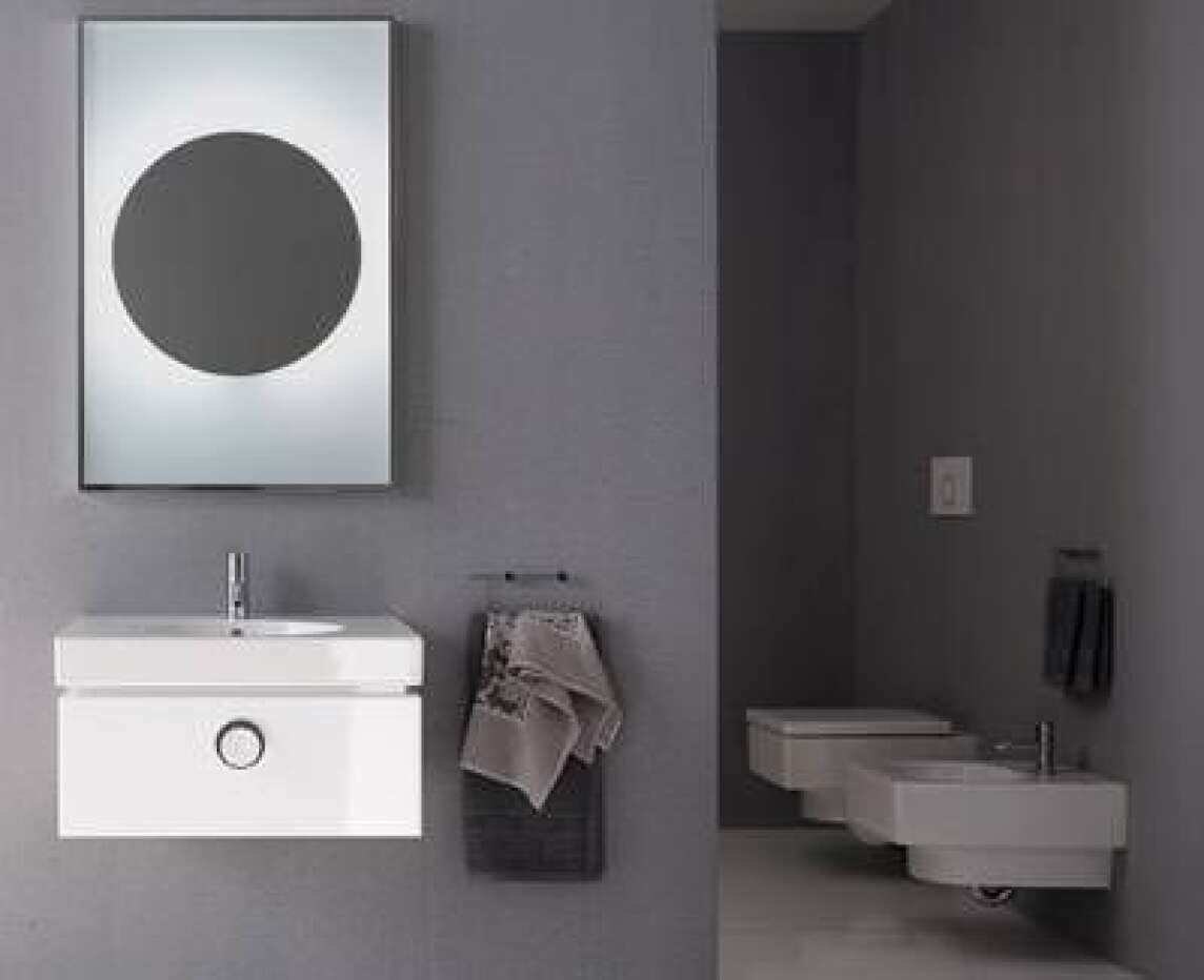 preciosa ii neue waschbecken wc und bidet ganz puristisch von keramag. Black Bedroom Furniture Sets. Home Design Ideas
