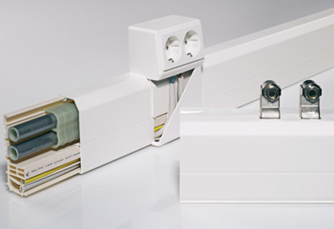 sockelleistensystem von rehau f r heizungs und. Black Bedroom Furniture Sets. Home Design Ideas