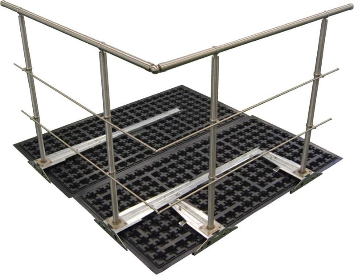 dachgarten gel nderbefestigung ganz ohne dachdurchdringung gel nder absturzsicherung f r. Black Bedroom Furniture Sets. Home Design Ideas