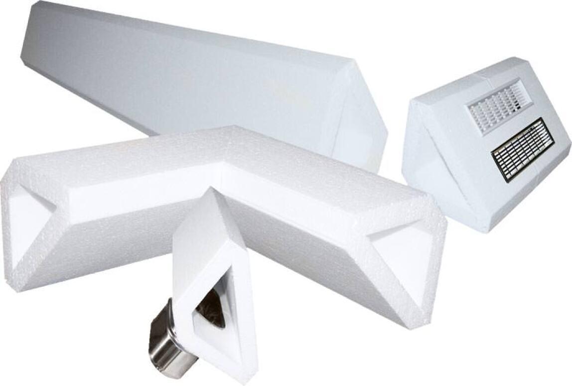 zierde oder technik aufputz l ftungsleitungen f r den bestandsumbau dreieckige. Black Bedroom Furniture Sets. Home Design Ideas