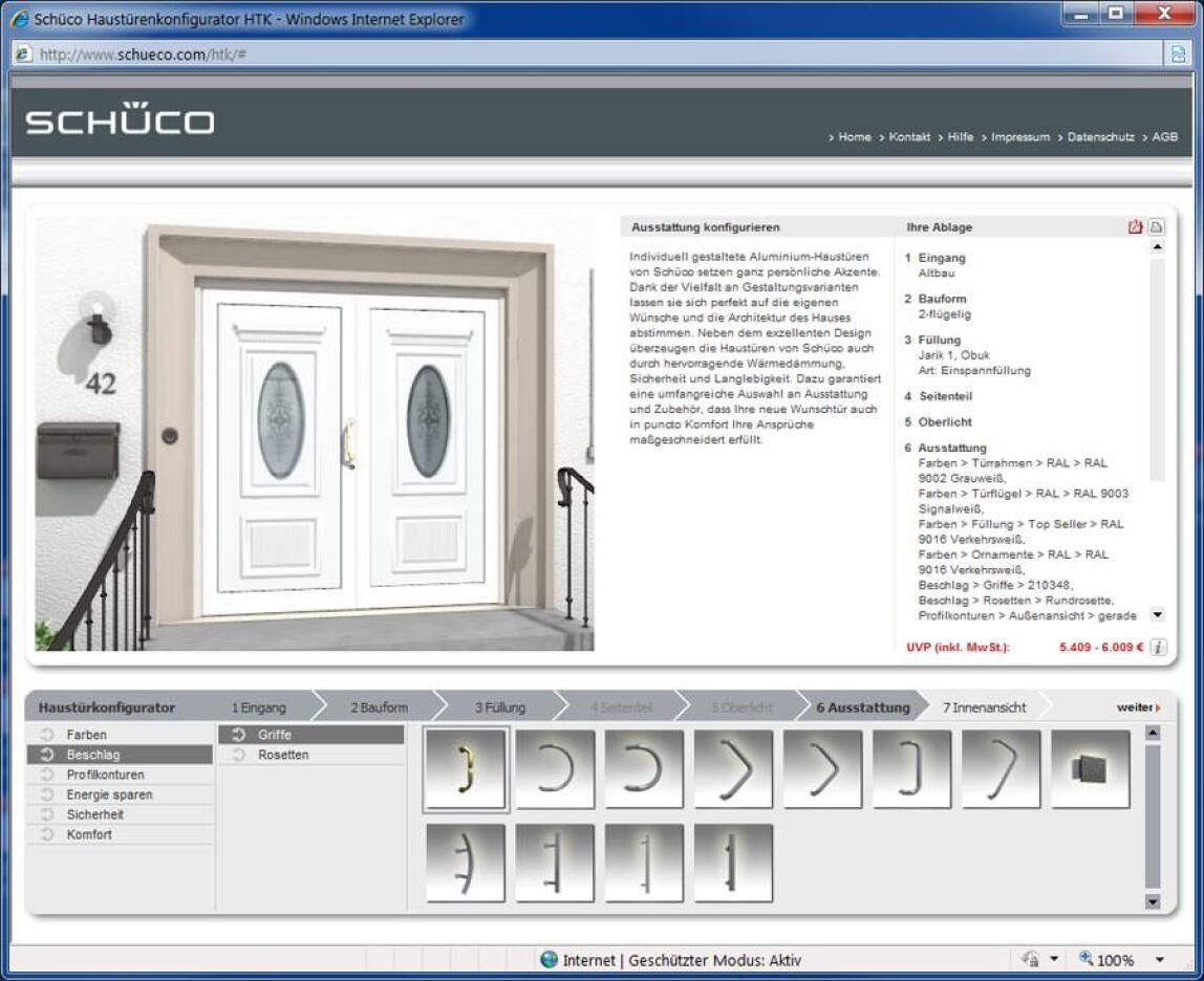 3D-Haustürenkonfigurator von Schüco