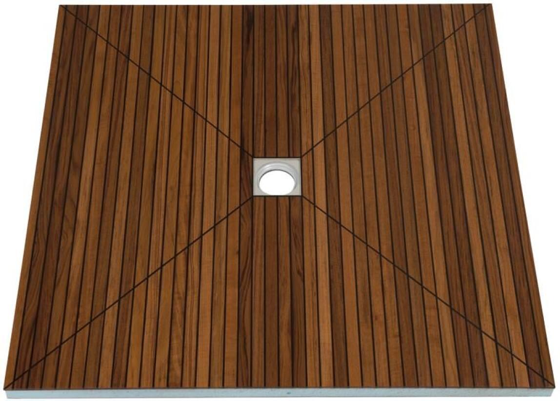 teakholzboden f r bodengleiche duschen ablauf mit holzboden aus teakholz. Black Bedroom Furniture Sets. Home Design Ideas