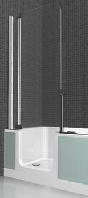 zweite artweger twinline mit dem platzbedarf einer badewanne alte badewanne austauschen. Black Bedroom Furniture Sets. Home Design Ideas