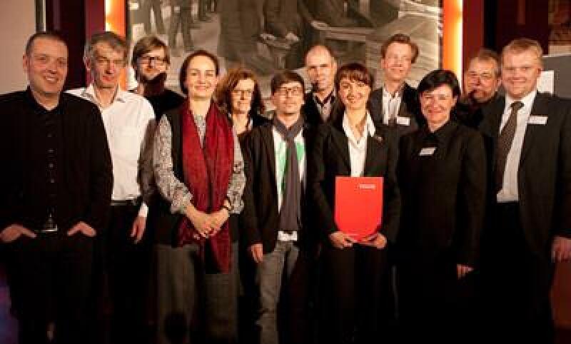 Jury und die für die Endrunde nominierten Architekten
