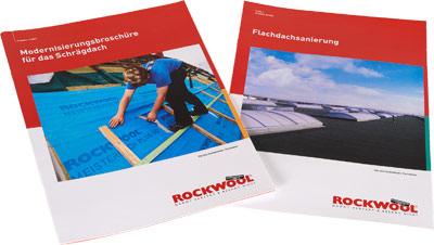 Ratgeber von Rockwool über die Sanierung bzw. Modernisierung von gedämmten und ungedämmten flachen und geneigten Dächern