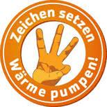 Logo Zeichen  setzen - Wärme pumpen!