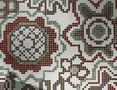 Ornamente Mit Mosaik Fliesen Mosaiksteine Ornament Fliesen