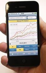 Überwachung von Photovoltaik-Anlagen per Smartphone - hier per iPhone