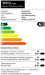 WELL - Water Efficiency Label von EUnited Valves