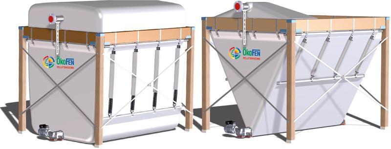 kofen gewebetank f r pellets mit 60 mehr volumen kofen flexilo compact pelletslager. Black Bedroom Furniture Sets. Home Design Ideas