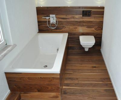 Wohlfühlzentrum Bad ... mit naturgeölten Holzböden